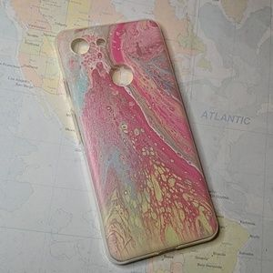 Pixel 3 pink marble phone case